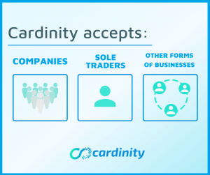Cardinity supported types of business